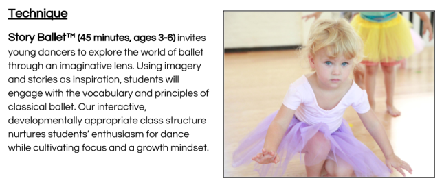 Story Ballet Description 2018
